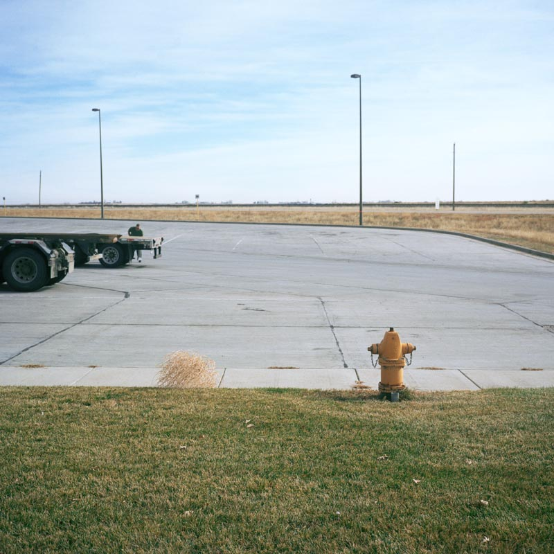 Tumbleweed at truck stop