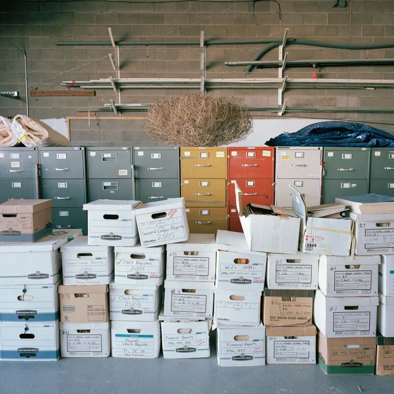 Tumbleweed decor municipal document storage